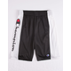 CHAMPION Heritage Script Black Boys Shorts
