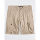BROOKLYN CLOTH Khaki Mens Cargo Shorts