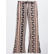 LA LA LAND CREATIVE CO. Linear Floral Stripe Girls Flare Pants