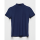 WHITE FAWN Solid Mock Neck Navy Girls Tee