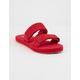 VANS Suede Cayucas Tango Red Womens Velcro Slide Sandals