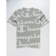 CHAMPION Allover Champion Script White & Gray Mens T-Shirt