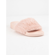 QUPID Faux Fur Blush Womens Sandals