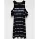 BILLABONG Chasing Waves Black Girls Cold Shoulder Dress