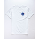 RETROFIT NASA Patch White Mens T-Shirt