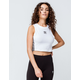 ADIDAS Trefoil White Womens Crop Tank Top