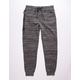 BROOKLYN CLOTH Heat Zip Black Mens Jogger Pants