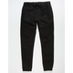 EAST POINTE Moto Black Mens Ripped Jogger Pants