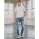 RSQ Seattle Skinny Taper Medium Vintage Mens Vintage Flex Ripped Jeans