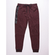 BROOKLYN CLOTH Heat Zip Burgandy Mens Jogger Pants