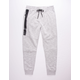 BROOKLYN CLOTH Heat Zip Light Gray Mens Jogger Pants