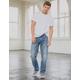 RSQ New York Slim Straight Medium Vintage Mens Ripped Jeans