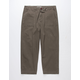 CHARLES AND A HALF Pork Chop Pocket Olive Mens Crop Pants