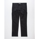 CHARLES AND A HALF Twill Black Mens Cargo Pants