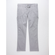 CHARLES AND A HALF Twill Light Gray Mens Cargo Pants