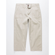 CHARLES AND A HALF Pork Chop Pocket Khaki Mens Crop Pants