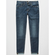 RSQ London Skinny Cuffed Dark Wash Mens Vintage Flex Jeans