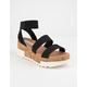 STEVE MADDEN Bandi Black Flatform Sandals