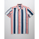DRILL CLOTHING Vertical Stripe Navy & White Mens Shirt