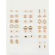 FULL TILT 20 Pairs Square & Triangle Earrings