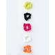 FULL TILT 5 Pack Neon Ribbed Scrunchies