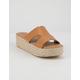 QUPID Beachie Espadrille Womens Platform Sandals