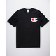 CHAMPION C Applique Logo Black Mens T-Shirt