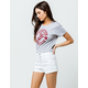 ALMOST FAMOUS High Rise Exposed Button White Womens Denim Shorts