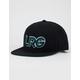 LRG Interception Black Mens Snapback Hat