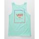 VANS Print Box Gradient Mint Mens Tank Top