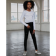 RSQ Super High Rise Ripped Girls Black Jeggings