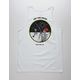 LAST CALL CO. Off The Hook White Mens Tank Top