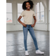 RSQ Mid Rise Skinny Exposed Button Medium Wash Girls Jeans