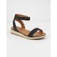 CITY CLASSIFIED Ankle Low Black Womens Espadrille Flatform Sandals