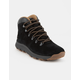 TIMBERLAND World Hiker Mid Black Suede Mens Hiking Boots