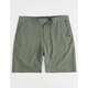 QUIKSILVER Union Feather Dark Olive  Mens Hybrid Shorts