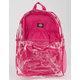 DICKIES Clear PVC Pink Backpack