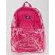 DICKIES Clear PVC Pink Backpack