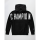 CHAMPION Reverse Weave Oversize Black Mens Hoodie