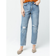AMUSE SOCIETY Selena Womens Ripped Crop Jeans