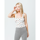 IVY & MAIN Floral Smocked Womens Tank Top