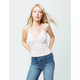 IVY & MAIN Ditsy Floral Button Front Womens Cami