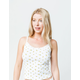 IVY & MAIN Ditsy Lace Trim Womens Cami
