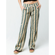ROXY Oceanside Tan & Blue Womens Pants