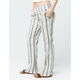 ROXY Oceanside Cream & Gray Womens Pants