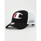 CHAMPION Twill Mesh Black & White Mens Trucker Hat