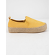 QUPID Raymond Yellow Womens Espadrille Flatform Slip-On Shoes