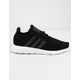 ADIDAS Swift Run Black & White Kids Shoes