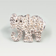 FULL TILT Rhinestone Elephant Two Finger Ring