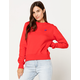 RUSSELL ATHLETICS Lily Crew Red Womens Sweatshirt